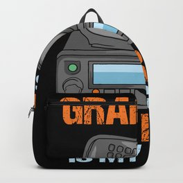Grandpa Is My Name HAM Radio Is My Game Design Backpack