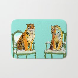 animals in chairs # 21 The Tigers Bath Mat