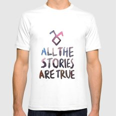All The Stories Are True White MEDIUM Mens Fitted Tee