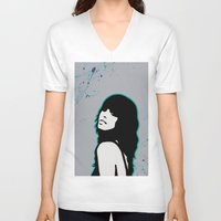 capricorn V-neck T-shirts featuring Capricorn by Bree Stillwell Craft