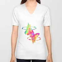 atlas V-neck T-shirts featuring ATLAS by DIZYGOTIK