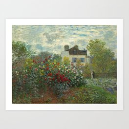 Claude Monet The Artist's Garden in Argenteuil, 1873 Art Print