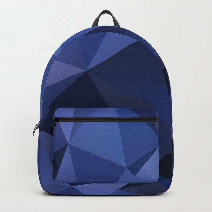 Abstract of triangles polygon in navy blue colors Backpack