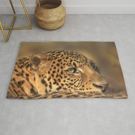 Face Of A Leopard Rug