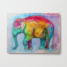 Layla The Elephant Metal Print