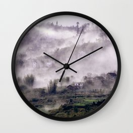 FOGGY FOREST in the VIETNAMESE MOUNTAIN Wall Clock