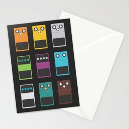 Guitar Effects Stationery Cards