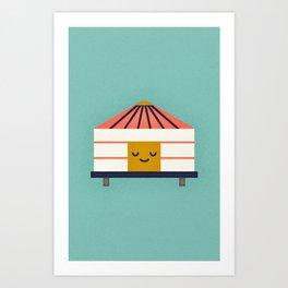 Yurt Art Print