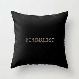 Black and Gold Minimalist Typewriter Throw Pillow