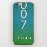 skyfall iPhone & iPod Skins featuring skyfall by alex lodermeier