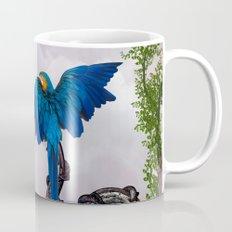 Wonderful blue parrot Mug