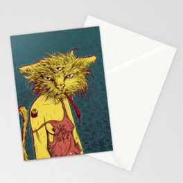 Third eye cat Stationery Cards