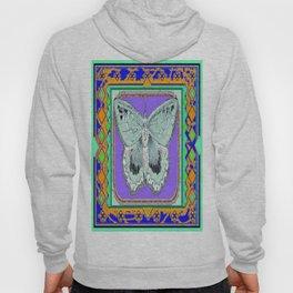 Southwestern Styalized Moth Art Design  Hoody