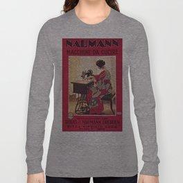 Vintage poster - Naumann Sewing Machine Long Sleeve T-shirt