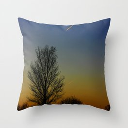 Shoot across the sky.... Throw Pillow