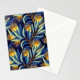 Pohutukawa - Yellow / Blue Stationery Cards