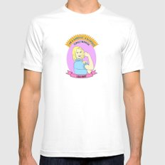 Leslie Knope - Godess Print White MEDIUM Mens Fitted Tee