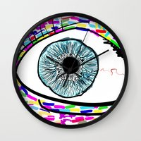 iris Wall Clocks featuring Iris by Beyond Infinite