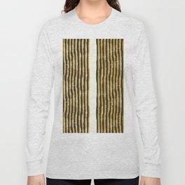 Zen Stripe Block Print Mustard Long Sleeve T-shirt