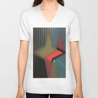 alaska V-neck T-shirts featuring Alaska by Kristine Rae Hanning