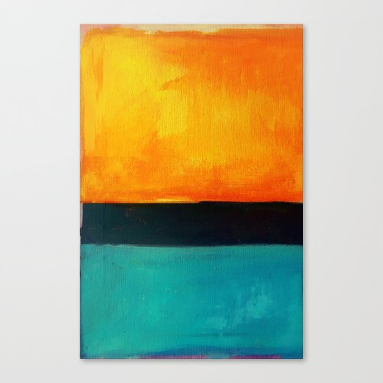 Mark Rothko Interpretation Orange Blue Canvas Print
