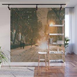 Winter - New York City - Snows Falls - Washington Square Wall Mural