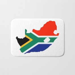 South Africa Map with South African Flag Bath Mat
