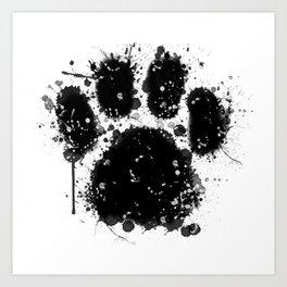 Pawprint Love Art Print