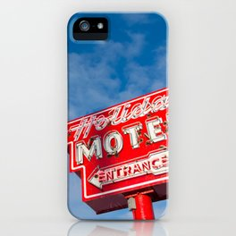 The Neon Guides Us Home iPhone Case