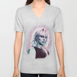Atomic blonde Unisex V-Neck