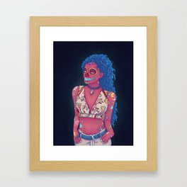 Calavera Lady Framed Art Print