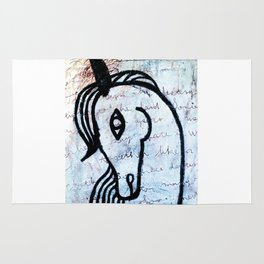 A horse from foreign country Rug