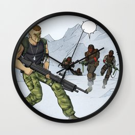 Tough Guy in action Wall Clock
