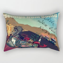 Ginny & Clutch (Greetings From Route 66) Rectangular Pillow