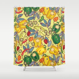 hot & spicy 2 Shower Curtain