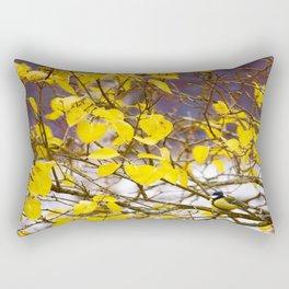 Song Bird Branch Yellow Leaves - Autumn Scene #decor #society6 #buyart Rectangular Pillow