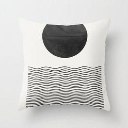 Modern Waves Throw Pillow