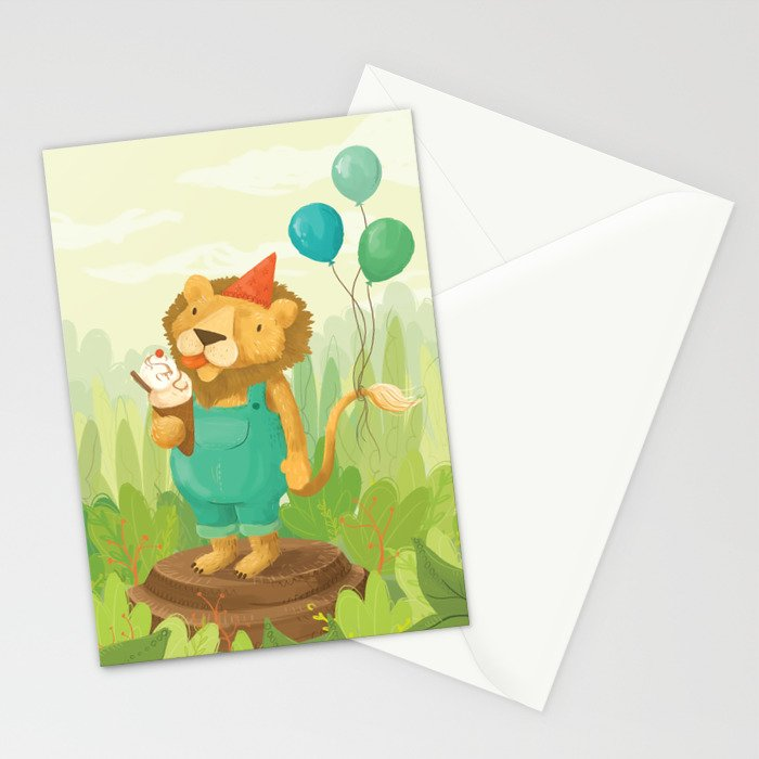 Lion's Birthday Stationery Cards