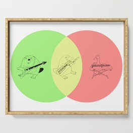 Keytar Platypus Venn Diagram - GYR Serving Tray