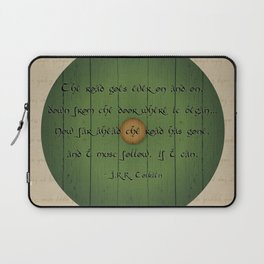 The Road Goes Ever On - Green Door Laptop Sleeve