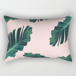 Tropical Blush Banana Leaves Dream #3 #decor #art #society6 Rectangular Pillow
