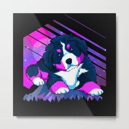 Modern Bernese Mountain Dog Puppy Metal Print