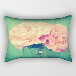 Romantic Vintage Roses Rectangular Pillow
