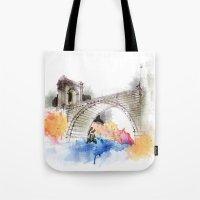 bridge Tote Bags featuring bridge by emegi