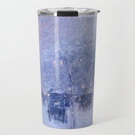 Childe Hassam - Late Afternoon, New York, Winter Travel Mug