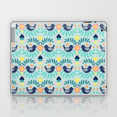 Folky Pattern Light Blue Laptop & iPad Skin