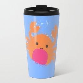 Orange Cartoon Crab Travel Mug