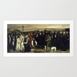 The Burial at Ornans, Gustave Courbet, 1849 -1850 Art Print