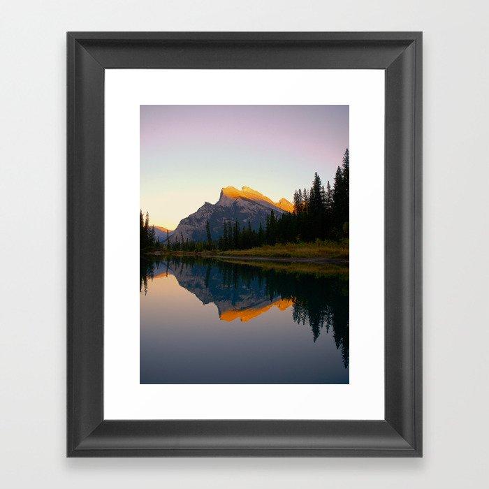 Mt. Rundle Gerahmter Kunstdruck