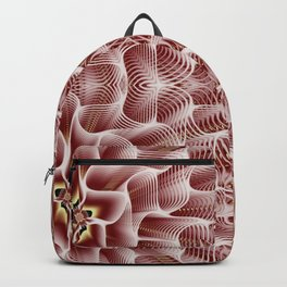 Fractal Art - Rose Backpack